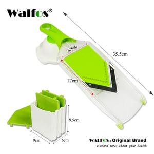 Image 5 - WALFOS Mandoline Slicer Manual Vegetable Cutter with 4 Blade Potato Carrot Grater for Vegetable Onion Slicer Kitchen Accessories