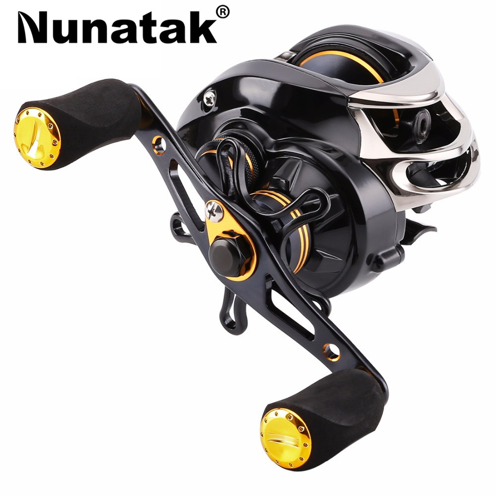 Magnetic brake system fish reel fishing bait cast 7.0: 1 brand fishing tackle wheel 12 + 1 bb drag max 5 kg Ratio 7.0:1