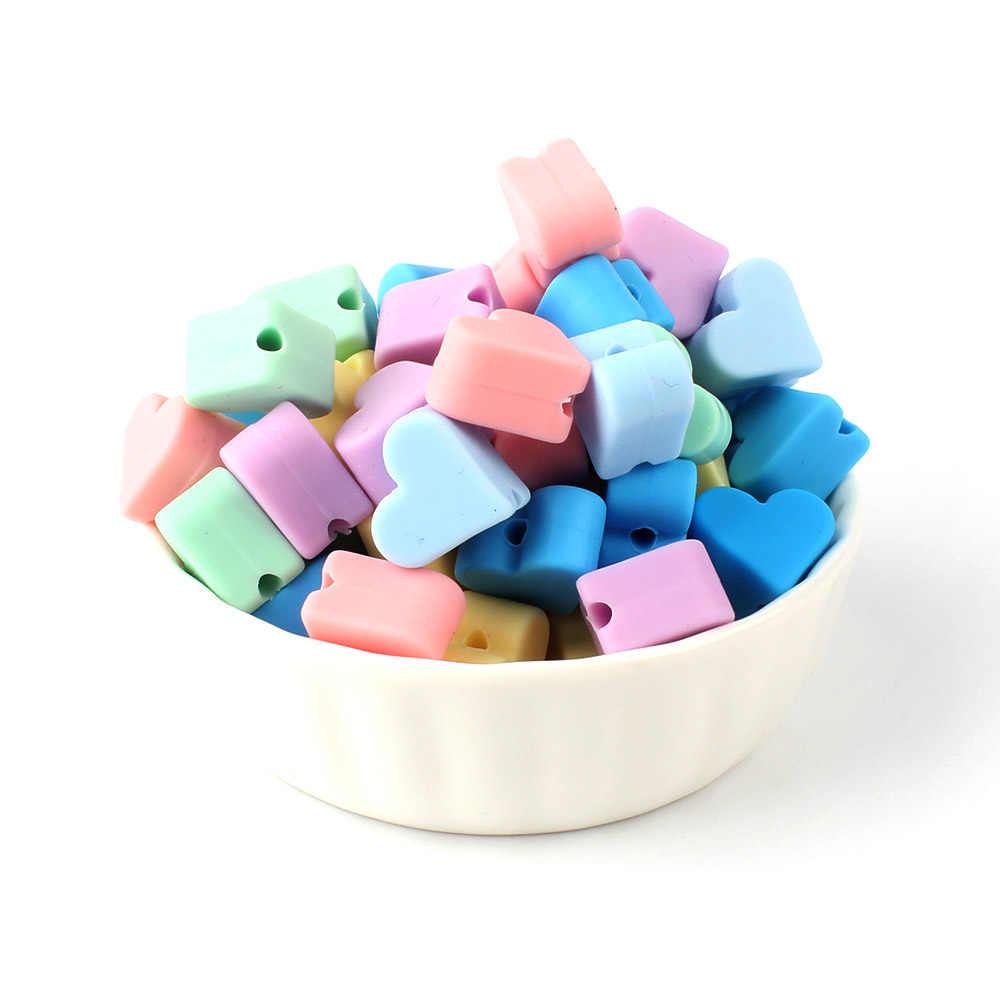 לשמור & לגדול 10 pcs יפה כוכב סיליקון חרוזים BPA משלוח תינוק סיעוד לעיסה בקיעת שיניים חרוזים מוצץ Teether DIY שרשרת