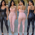 Mujeres Sexy Back Zipper Partido Clubwear Playsuit Mono Mameluco