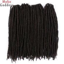 MokoGoddess 18 InchSynthetic плетение пряди волос термостойкие волокно Jumbo искусственные локоны вязаный крючком косы