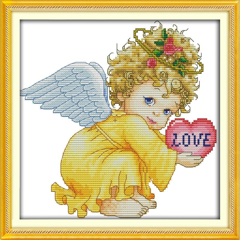 Ангел с ребенком вышивка крестом