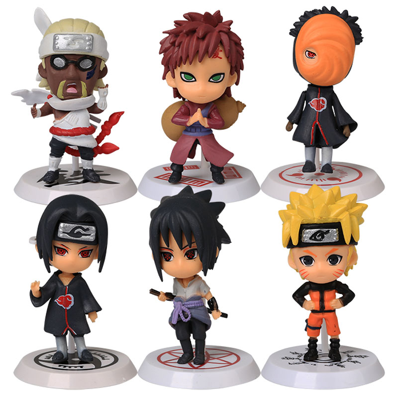 Classic Figurine 6pcs/set Naruto PVC Action Figure Toys Full Set Model Collection Free Shipping anime naruto pvc action figure toys q version naruto figurine full set model collection free shipping