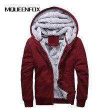 MQUEENFOX/Новинка года; зимняя теплая куртка-бомбер; повседневные толстовки с капюшоном; плотная верхняя одежда; Брендовое пальто на молнии; большие размеры