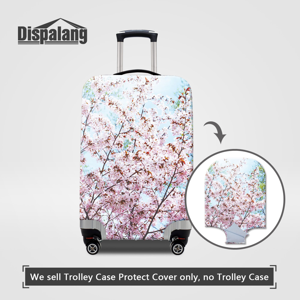 Dispalang Case For A Suitcase Flower Printing Anti-dust Luggage Protective Covers For 18 20 22 24 26 28 30 Inch Trunk Dust Cover stylish protective tpu full body case w anti dust cover for iphone 5 white