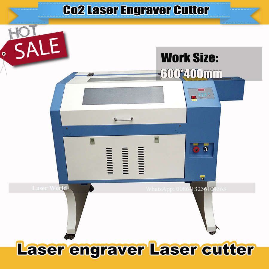 Coconut Shell Laser Cutting Machine Honey Comb Work Table 4060 80w Power CNC Laser Engraver Cutting Machine Free Shipping