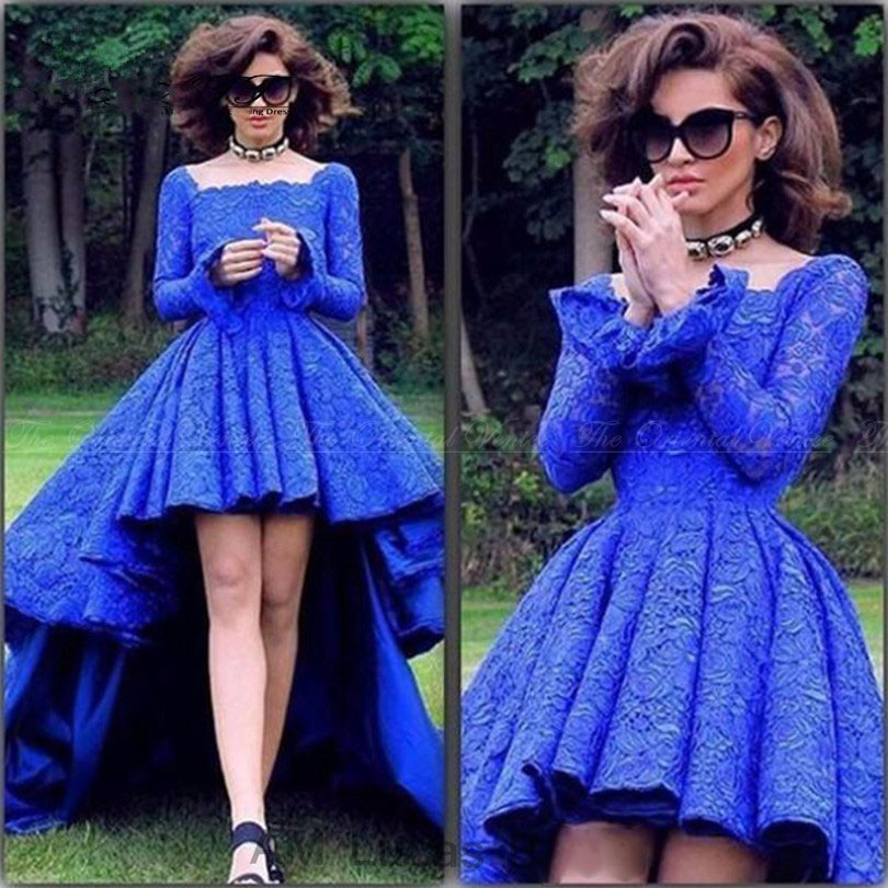 Popular Royal Blue Prom Dress Short High Low-Buy Cheap Royal Blue ...
