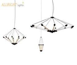 LED nowoczesne nowy styl czarny/złoty kolor 7/11 głowice shirink ciała do sypialni kawy sklepów pokój do nauki