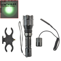 Hunting LED Flashlight Green Light 300 Meters Lighting Distance Tactical Lantern HS 802 Remote Pressure Switch