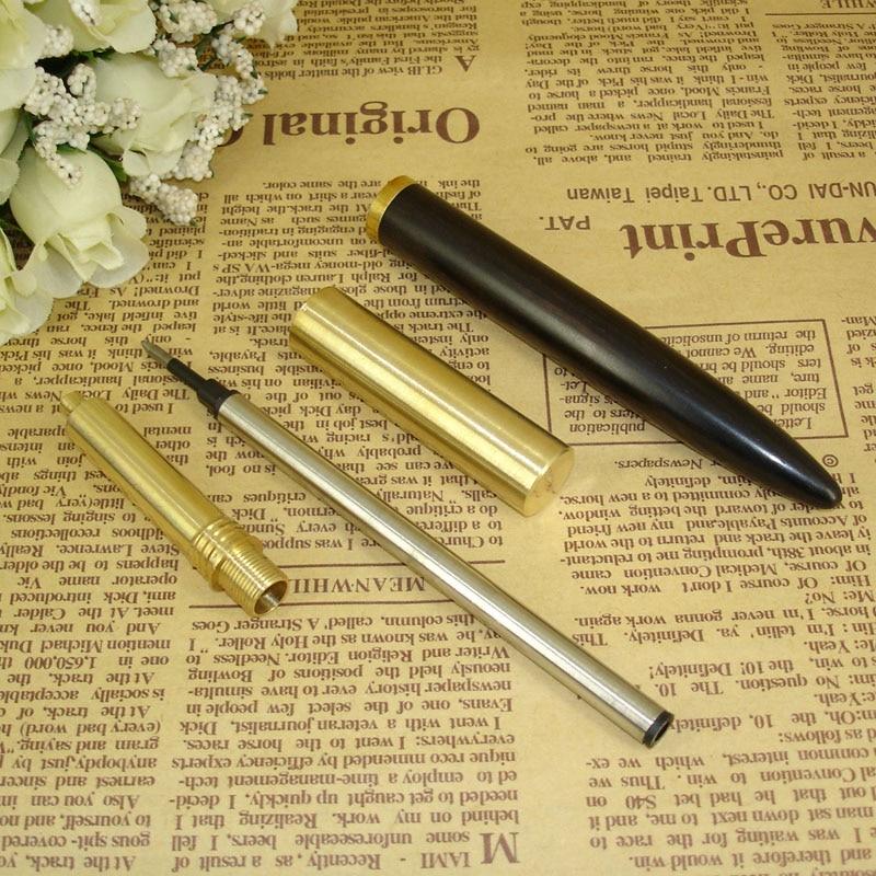 ACMECN Brass Wood Liquid ink Pen Classic Unique Design 58g Heavy Gel ink Pen Office Stationery for Men Gifts Antique Roller Pen in Gel Pens from Office School Supplies