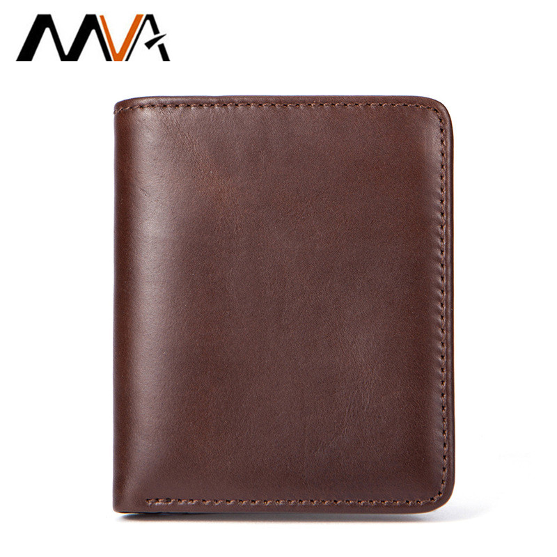2018 New Hot MVA Classic Style Wallet Genuine Leather Men Wallets Short Male Purse Card Holder Wallet Men Fashion High Quality high quality mens long wallet fashion hot clutch wallets for male leather card holder casual men purse bb112