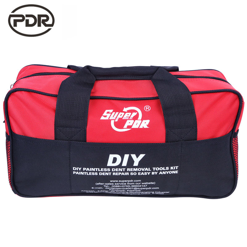 все цены на Super PDR Tool Bag Tools Packaging Car Body Repair Kit Dent Removal Paintless Dent Repair Tools Bag High Quality онлайн