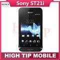 Оригинальный Разблокирована Sony Xperia tipo ST21 ST21i сотовый телефон 5MP Wifi GPS гарантия один год После Капремонта FreeShipping