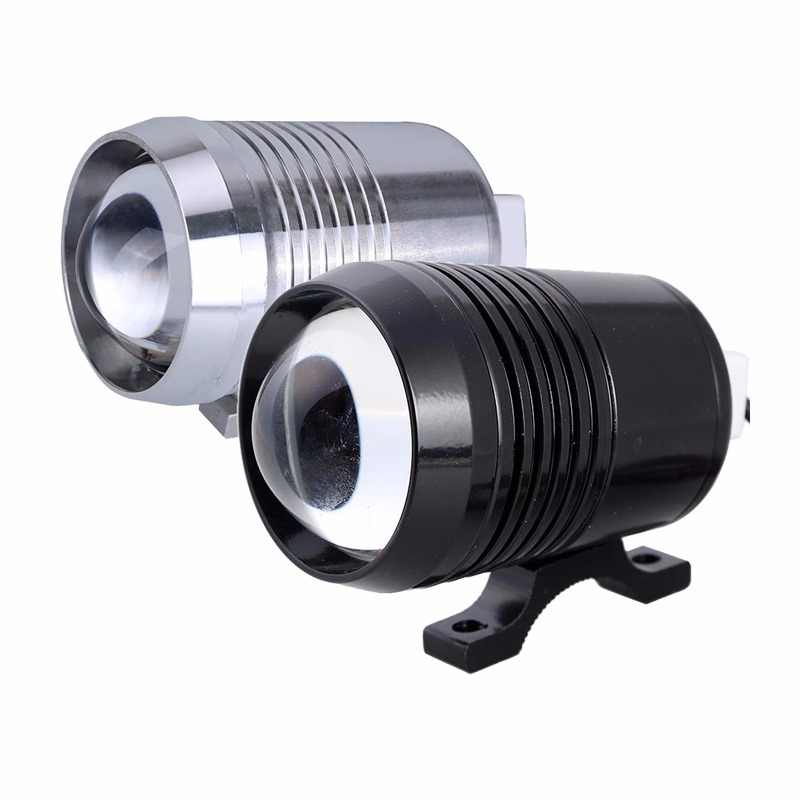 Motorcycle Headlight Bulb Led 12v Moto U2 30W 1500LM High Low Flash LED Driving Spot Light Lamp Black Silver Motorbike Fog Light