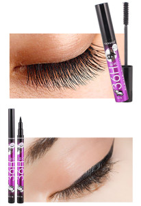 Image 5 - 36H Black Waterproof Liquid Mascara 4D Fiber Lashes Curling Thick Lengthening Black Mascara Volume Eyelashes Korea Makeup Set