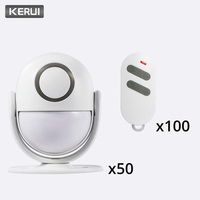 KERUI 125dB P6 Home Security PIR Motion Alarm Doorbell APP Control Burglar Sensor Detector Welcome Door Bell Host Alarm System