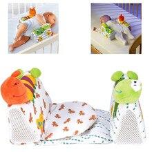 Милая безопасная Подушка против скатывания для новорожденных девочек и мальчиков, подушка с защитой для шеи, позиционер для сна, предотвращающий плоский подголовник