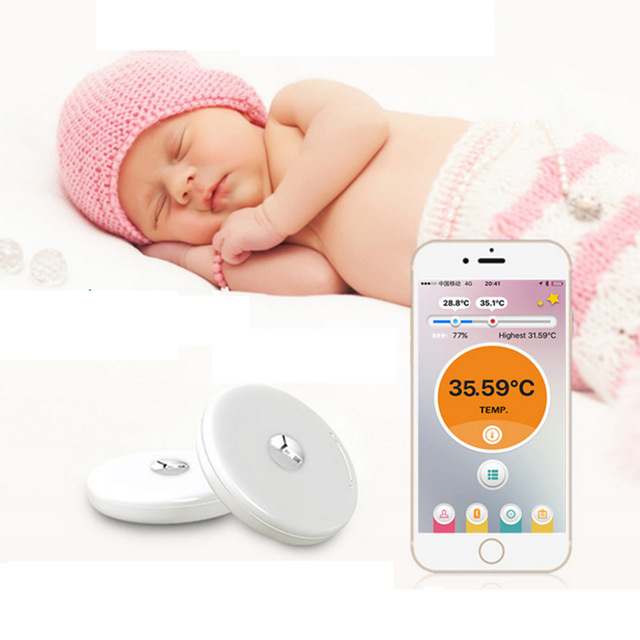 Bluetooth 4.0 Remote Children Wearable Electronic Thermometer Smart Body Infant Intelligent Wearable Safe Thermometer Monitor free shipping new children akara intelligent wearable electronic thermometer bluetooth smart baby monitor household thermometer