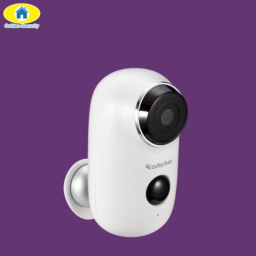 Caméra de sécurité WiFi 720 P caméra IP alimentée par batterie caméra extérieure/intérieure HD Vision nocturne PIR détection de mouvement vidéo d'enregistrement Audio à 2 voies