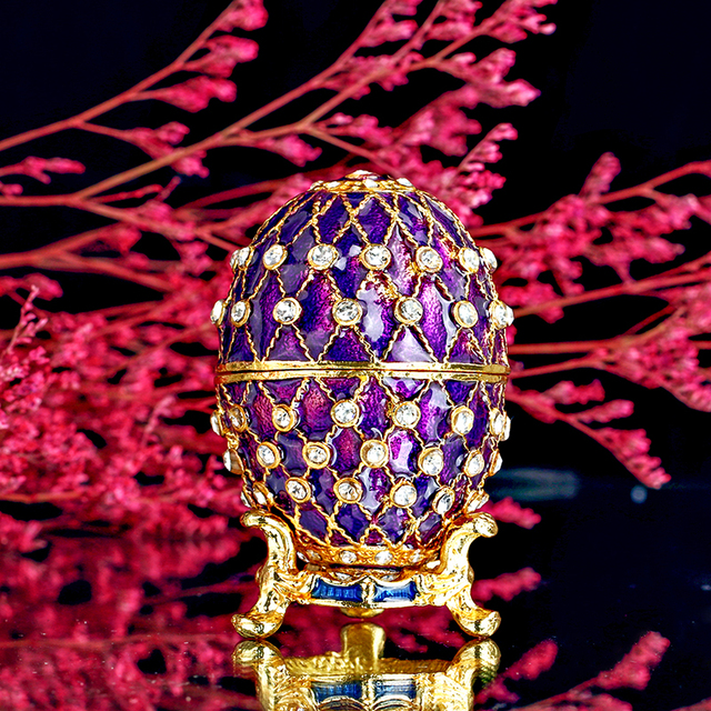 Hd 24 purple easter metal embroidery russian egg jewelry trinket hd 24 purple easter metal embroidery russian egg jewelry trinket box figurine christmas gifts negle Gallery
