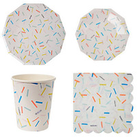 56pcs Set Disposable Party Paper Tableware Sets Disk Tablewares Plates Cups Napkins For Baby S Shower