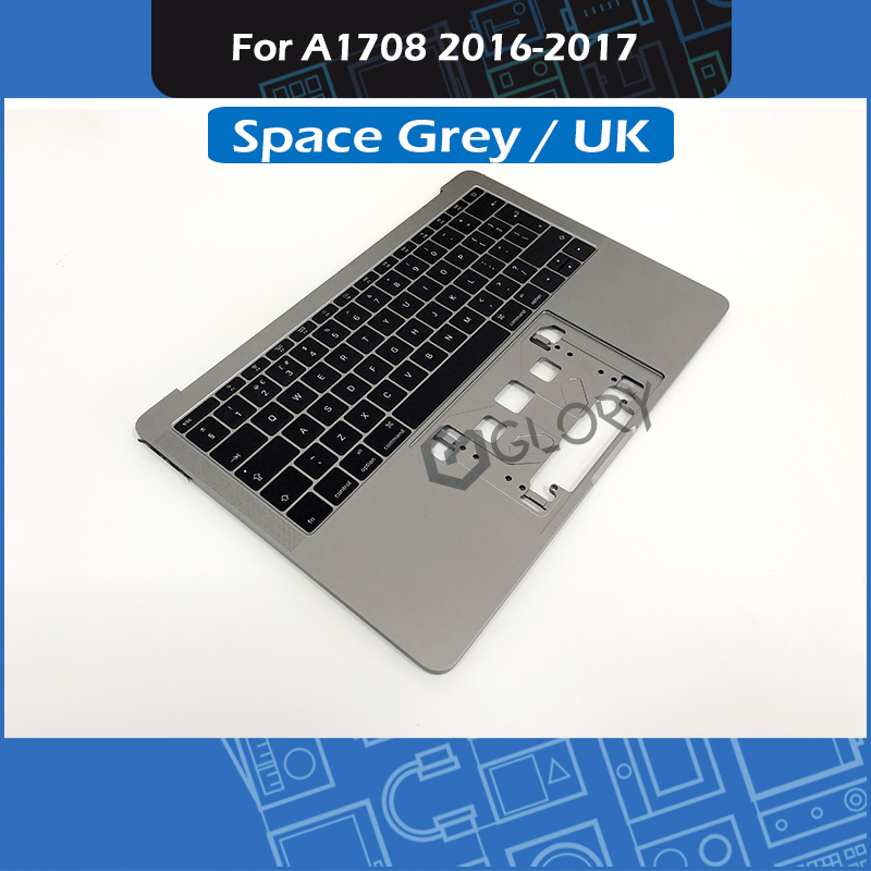 Space grey <font><b>A1708</b></font> Top Case UK Layout for <font><b>MacBook</b></font> <font><b>Pro</b></font> Retina 13