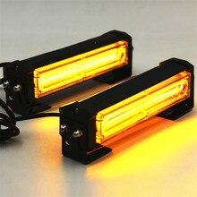 цена на 50000 Hours Waterproof Warning Lamp LED Amber Multiple Modes Strobe Traffic Emergency Light Bar Remote Wireless Car Styling