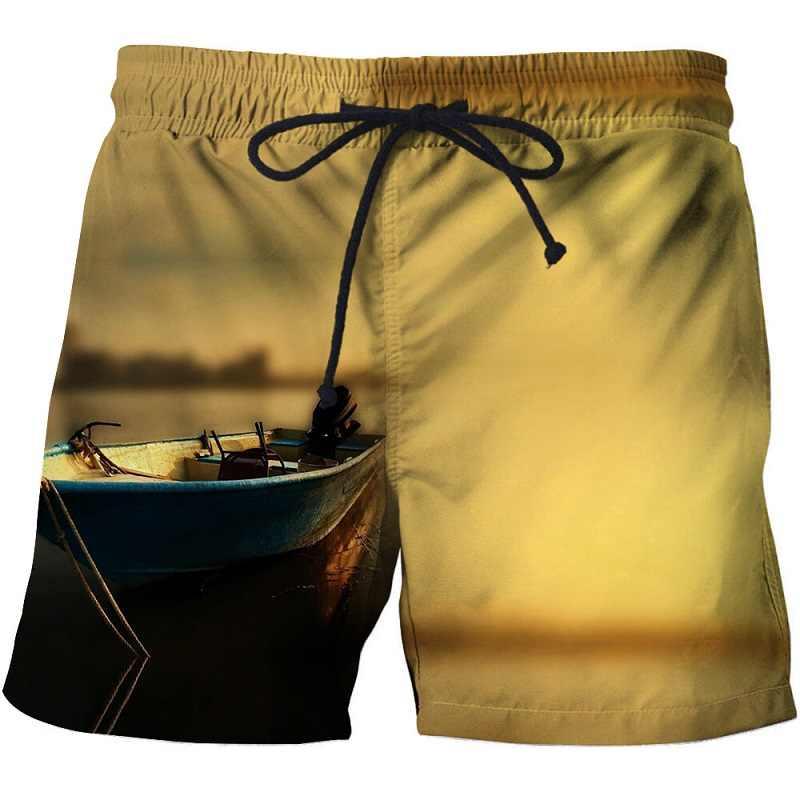 Fish 3 d طباعة رجالي سروال سباحة قصير تصفح ارتداء مجلس السراويل 2018 الصيف ملابس السباحة boardshort جذوع قصيرة الحجم s-6xl