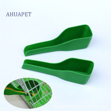 AHUAPET Bird Food Feeding Tool Plastic Spoon Parrot Water Feeder Anti-sprinkle Eco-friendly Durable Birds Products E
