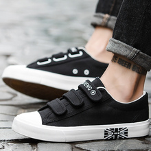 Canvas shoes man sneakers fashion style flats solid men casual shoes plus size 39-44 sewing Vulcanize Shoes sepatu pria