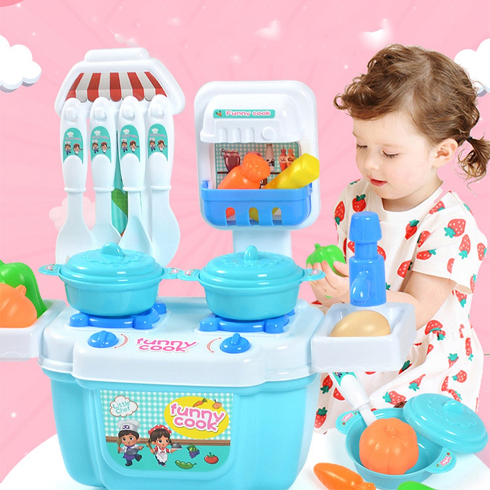 Plastic Kitchen Ware Cooking Pretend Play Kitchen Toys Set Cooking Pans Dishes Toy Cookware Set Toys For Girls Children