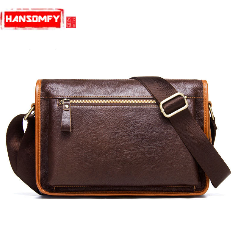 New Men's Messenger Bag Genuine Leather Casual Multifunctional Shoulder Bag First Layer Leather Men's Bags стоимость