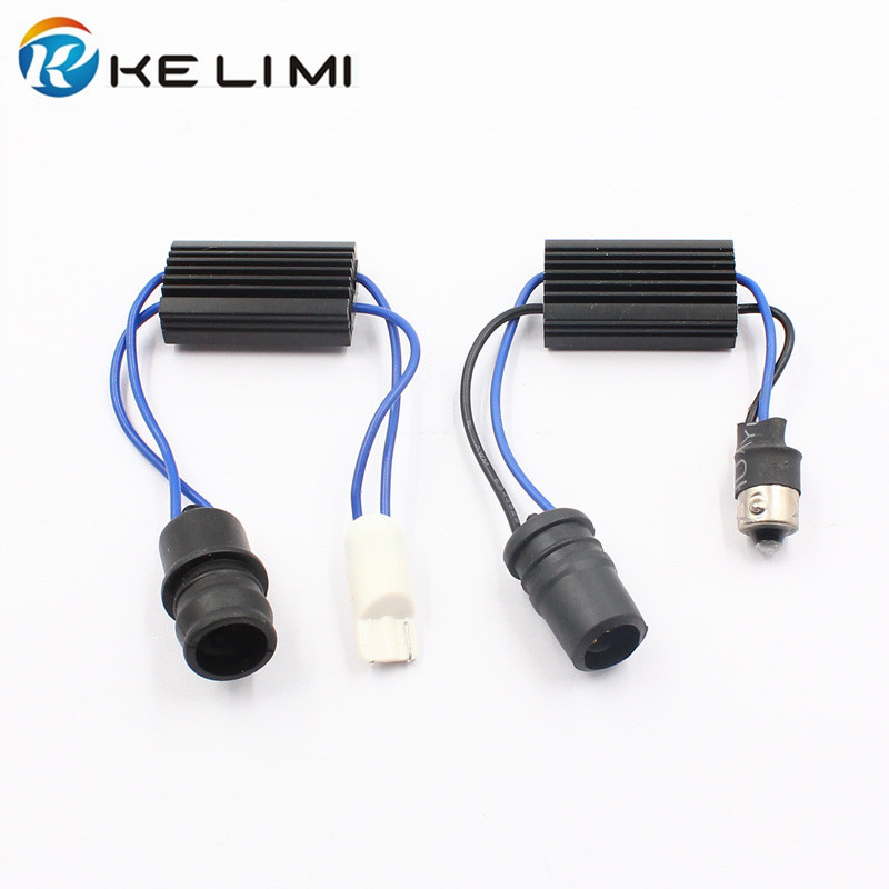 KE LI MI T10 BA9S LED Decoder Car LED Lights Anti Flicker Warning Flashing Error Canceller Soft Socket 2 Style