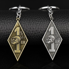 dongsheng Vintage Jewelry Accessories Bandidos Motorcycle Club Keychain With 1%er Pendants Keyring Key Chain Keys Holder Xmas-50(China)