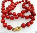 Hot sale new Style >>>>>10mm Red Sea Coral Round Beads Necklace 18""