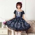 SAKURA CARD CAPTORS XS-6XL Mulheres Vestido Lolita Doce tecido Macio one-piece vestido Formal Feminino vestido de Princesa Da Lua Estrela Impressão vestido