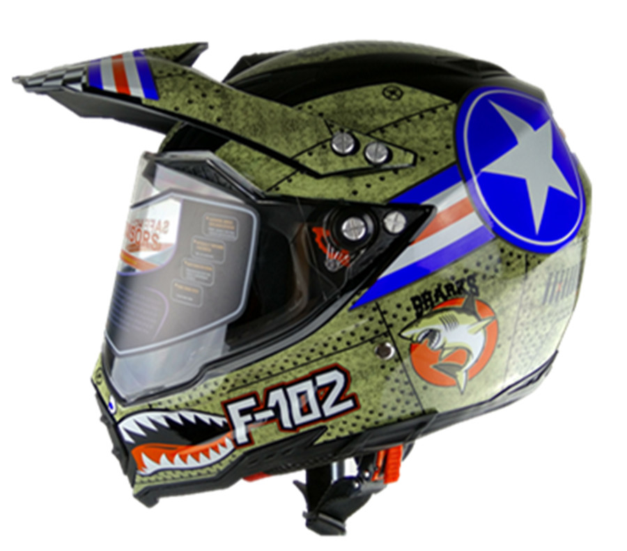 Motorcycle helmets DOT approved Full face casque moto racing Motocross helmet dark lens motocross helmet S M L XL XXL