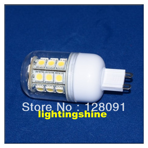 hot sale LED G9 5w 27pcs SMD5050 high brightness bulb 10pcs/lot free shipping G9/E27/E14 base