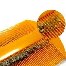 Пластиковый двухсторонний Пинцет шифрование зуб Pet детская расческа Пинцет для перхоти зуд парикмахерские принадлежности для девочек