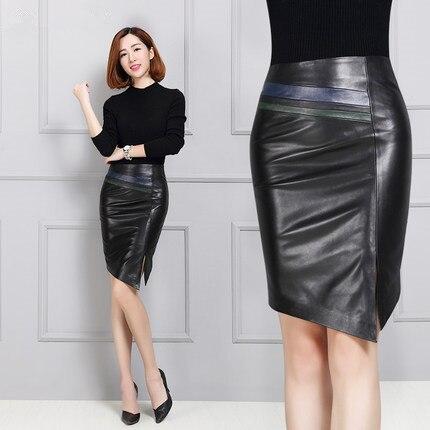 Sheepskin Leather Skirt Long Leather Skirt K138