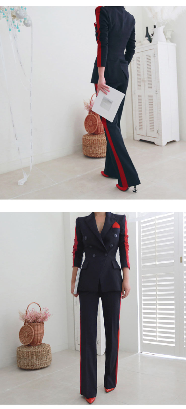 New arrival women high quality temperament fashion wild suit slim pant comfortable thick warm trend outdoor office pant suits 6