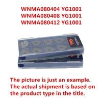 Wnma080404 yg1001/wnma080408 yg1001/wnma080412 yg1001 coreia yg cnc pastilhas de carboneto para o ferro fundido substituir mitsubishi uc5115