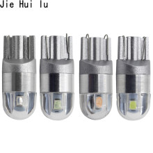 1Pcs T10 W5W LED Car Light SMD 3030 Marker Lamp WY5W 192 501 Tail Side Bulb Wedge Parking Dome Light Auto Styling DC 12V(China)