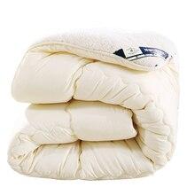 冬の厚さの掛け布団暖かい羽毛布団ふわふわ毛布ラムダウン充填キングクイーンサイズシングルダブルカシミヤパッチワークキルト