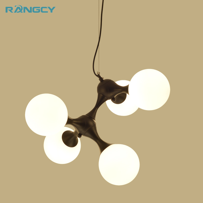 After the modern bedroom pendant lamp room simple European style retro style retro DNA molecular Pendant lights 110V-240V crysta lamp pendant lights lounge dining room bedroom lamp lychee simple new european style warm crystal hanging lamp