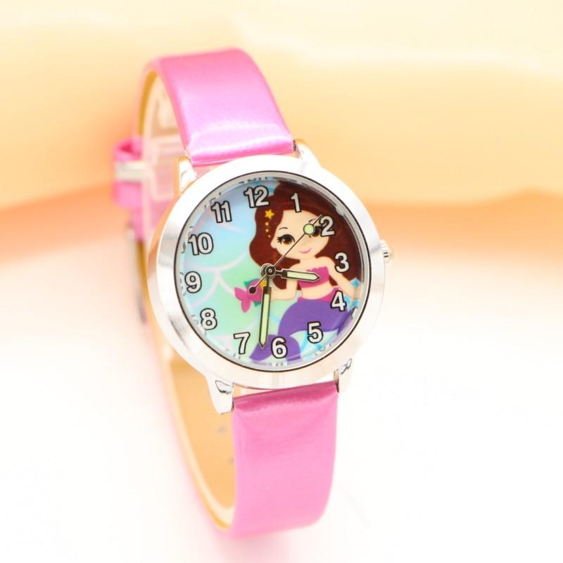 New Arrival Fashion Mermaid Watches Children Student Kids Girls Watch Casual Quartz Lady Wristwatch Relojes Montres Kol Saati