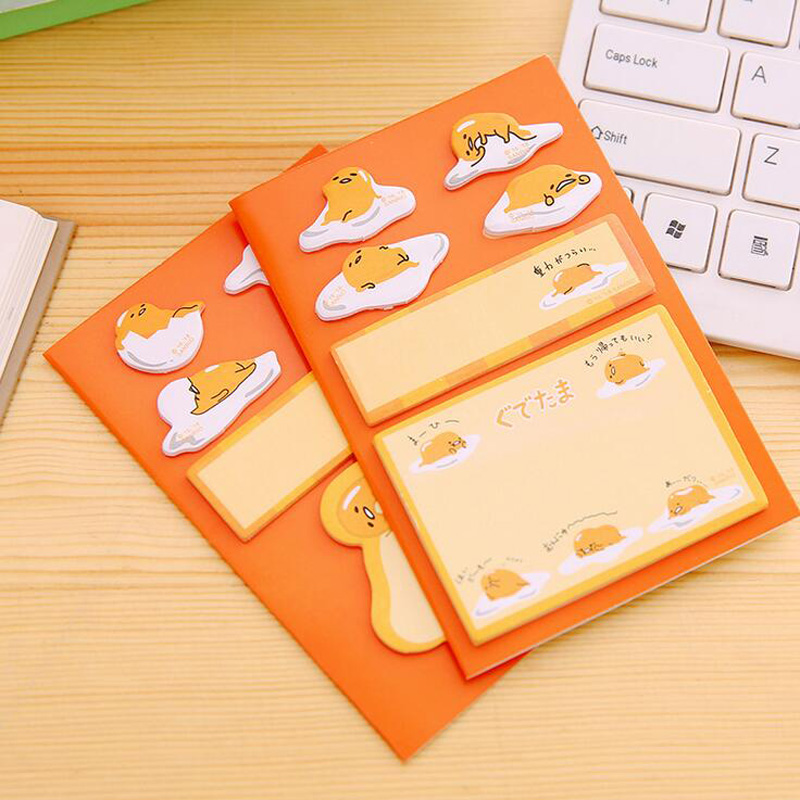1X Cute Kawaii Lazy Egg Memo Pads Sticky Notes Writing Notepad School Office Supply Student Stationery