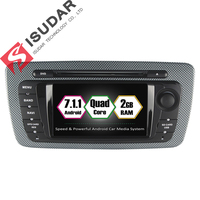Isudar Car Multimedia Player GPS 2 Din Android 7.1.1 For Seat/Ibiza 2009 2013 CANBUS Wifi Tire Pressure Monitoring System OBD FM
