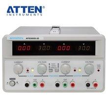Подлинная ATTEN APS3005S-3D, двойной источник питания постоянного тока, регулируемое постоянное напряжение, постоянный ток, лабораторный источник питания