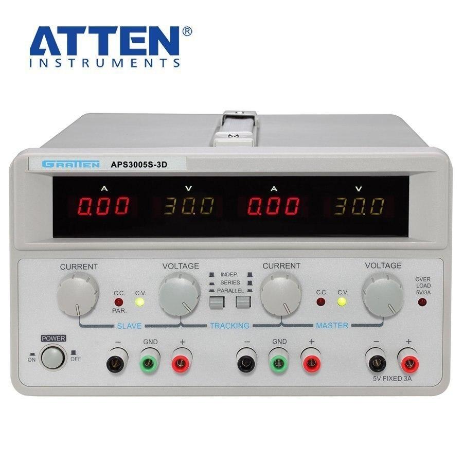 LIVRAISON GRATUITE Véritable GARDE APS3005S-3D Double DC alimentation Réglable tension constante courant constant Laboratoire puissance suppl